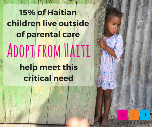 15% of Haitian children live outside of parental care