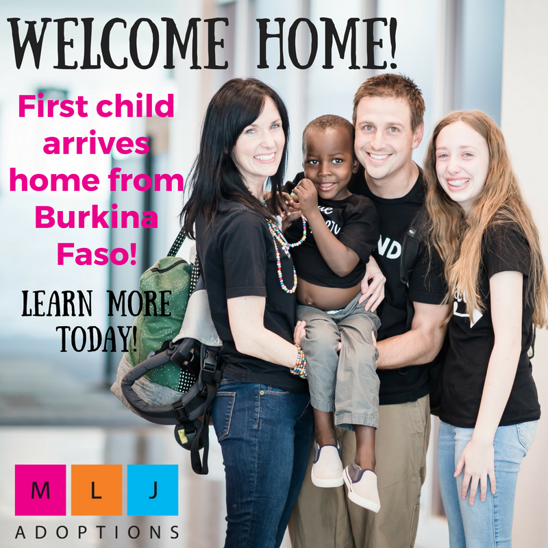 Interested in adopting from Africa? Learn more about MLJ Adoptions' Burkina Faso program.