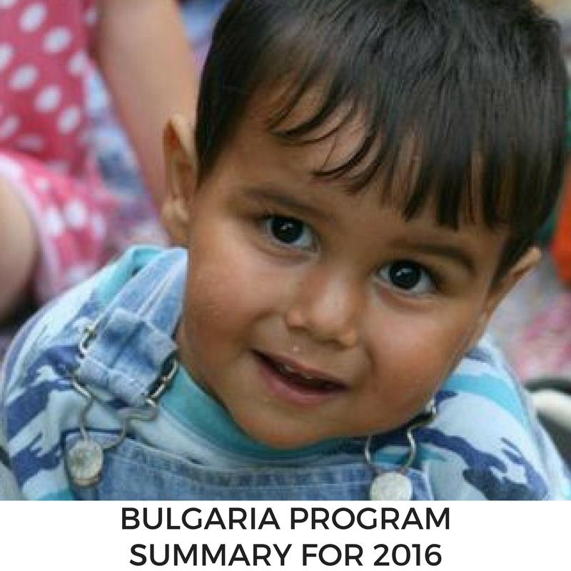 Bulgaria Program Summary for 2016