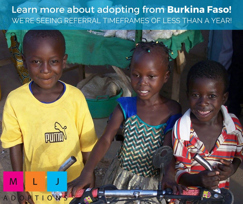 Adopting from Burkina Faso is a great option for families hoping to adopt from Africa!