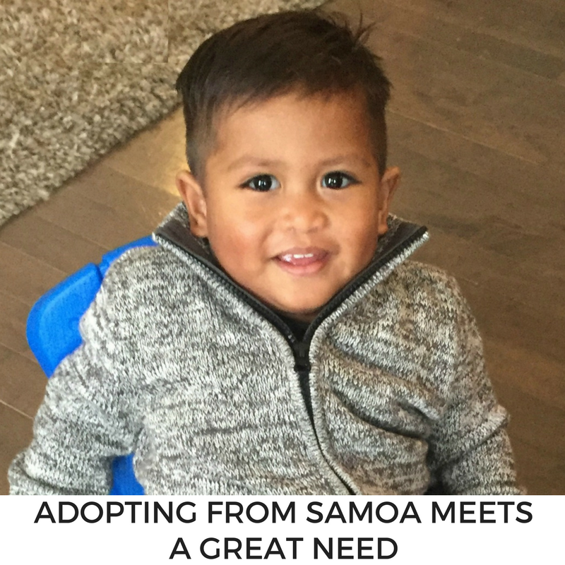 SAMOA ADOPTION NEED
