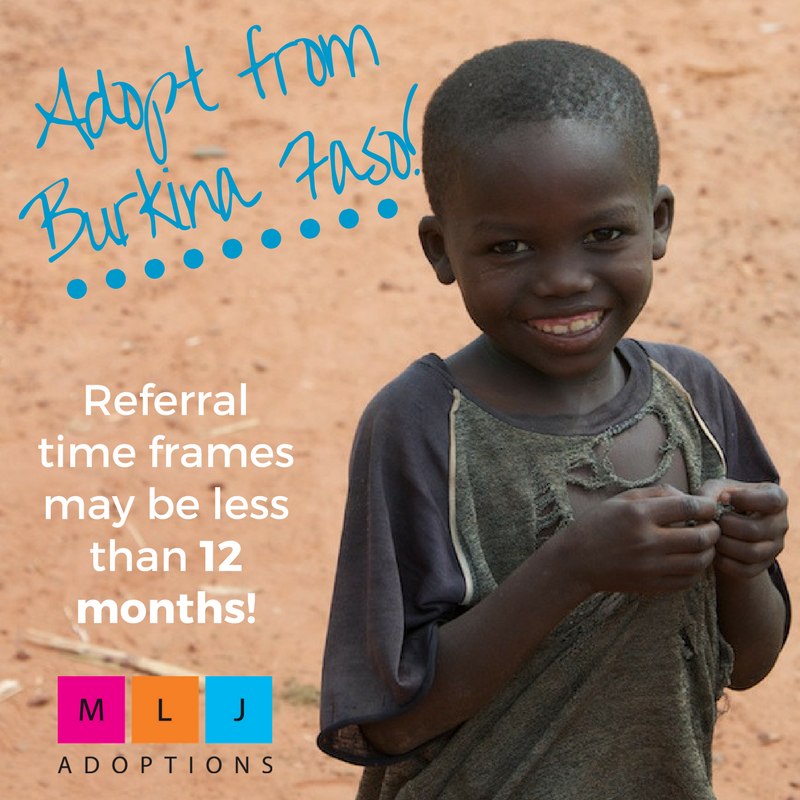 Interested in adopting from Burkina Faso? Contact MLJ Adoptions.